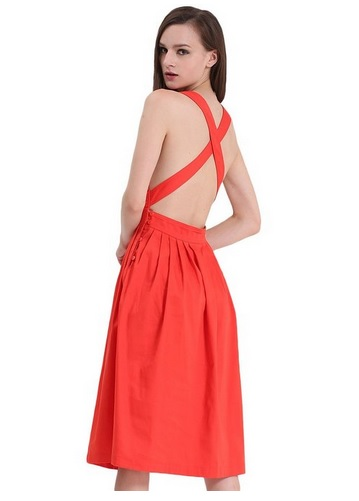 how to style an orange dress 3