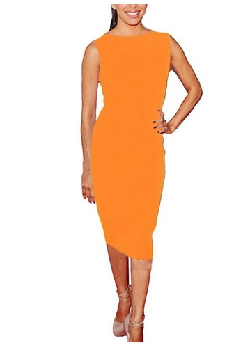 how to style an orange dress 6