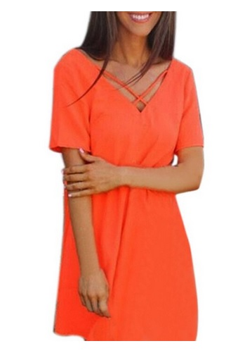 how to style an orange dress 7