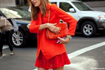 how to style an orange dress 8