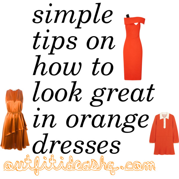 how to style an orange dress 9