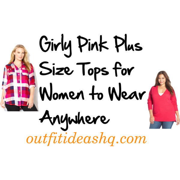 pink plus size tops 10