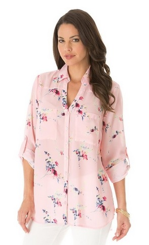 pink plus size tops 2