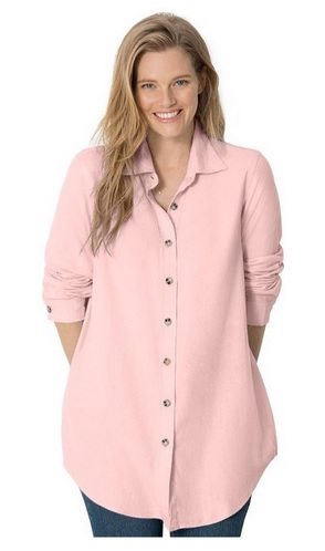 pink plus size tops 6