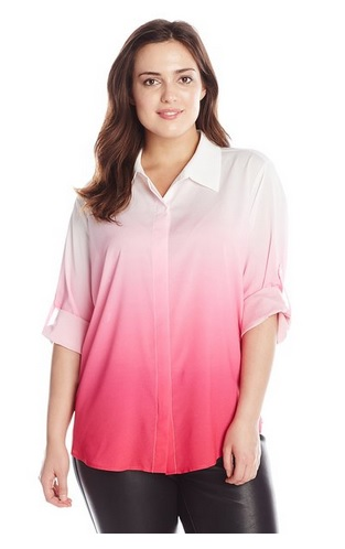 pink plus size tops 7