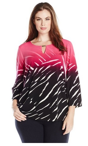 pink plus size tops 8