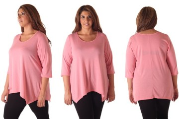pink plus size tops 9