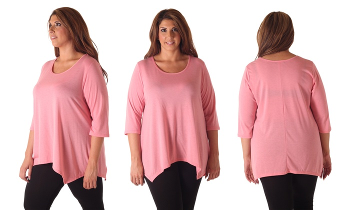 Girly Pink Plus Size Tops for Women to Wear Anywhere - Outfit Ideas HQ