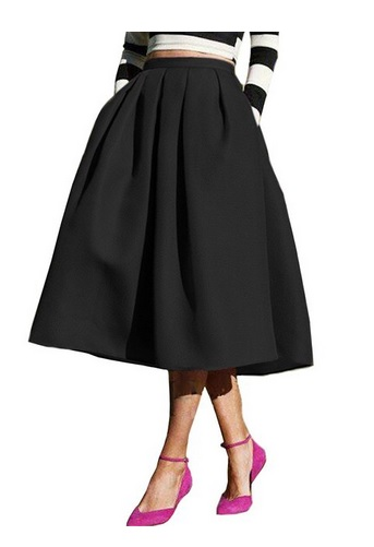 "0679489b87 ""Don't wear midi skirts and dresses. They're not flattering on short girls  like you."" The trick is to go for high-waisted silhouette midi skirts and  then ..."