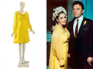 elizabeth taylor yellow wedding dress