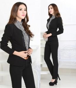 black pantsuit