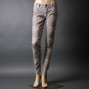 animal printed denim