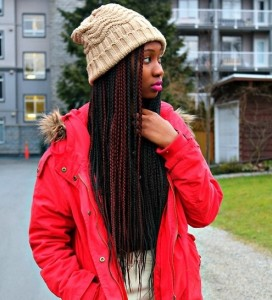 beanie with braid
