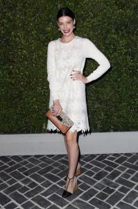 long-sleeve snowy white dress
