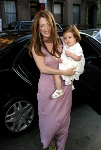 Julianne Moore lilac wedding dress