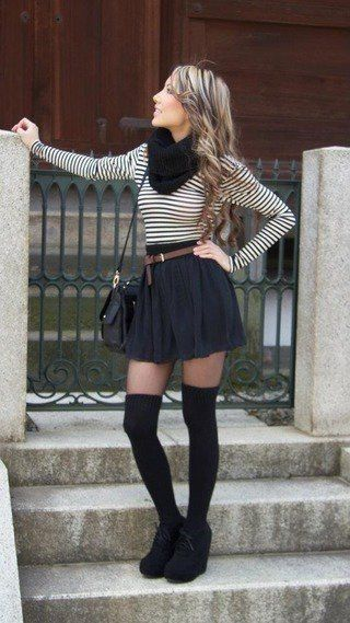 Black and White Outfit for Teens 13