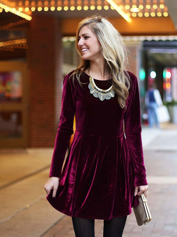 Velvet Dress Ideas 11
