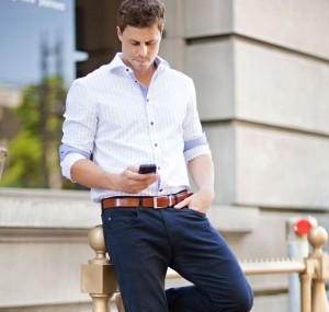 oxford shirt & tailored trousers