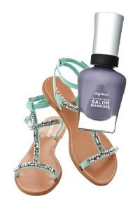 minty sandal pairing