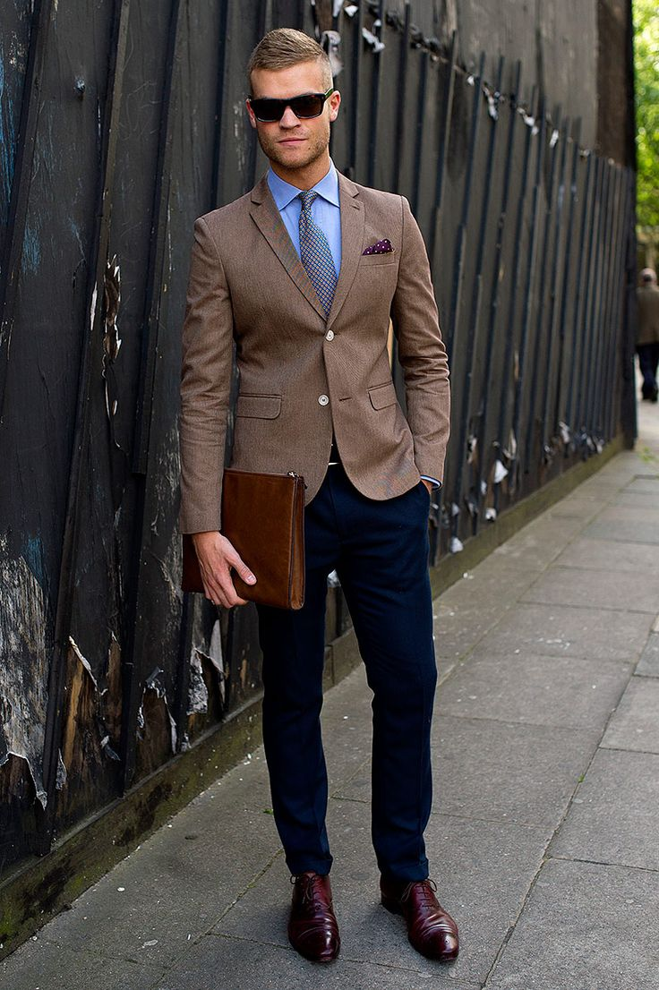 What to wear with brown shoes outfit ideas hq for Blue dress shirt outfit