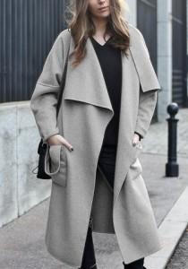 open oversized coat