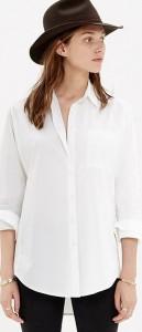 tailored white shirt