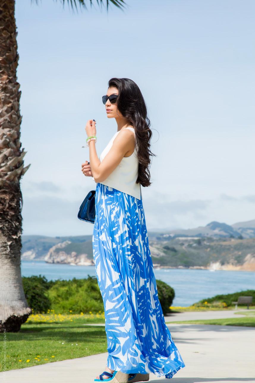 Beachwear Essential Printed Chiffon Maxi Dress Outfit