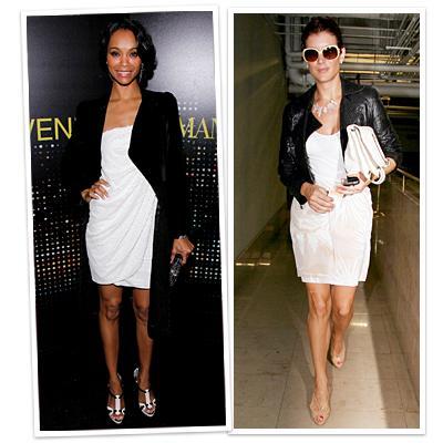 White dress black jacket