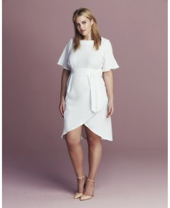 white tie wrap dress