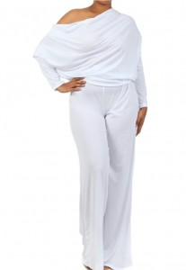 plus size white jumpsuit