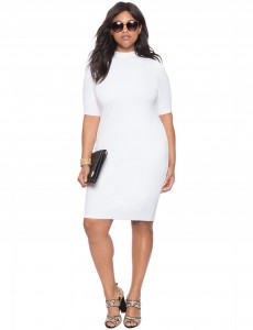 plus size white bodycon