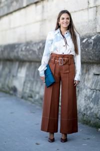 belt and wide leg pants