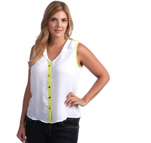 plus size white sleeveless blouse