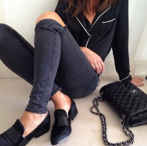 black shoes and black bags