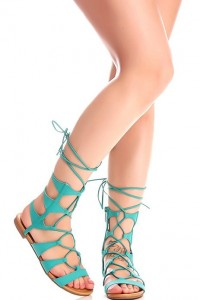 multi strap lace up gladiator sandal