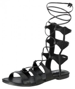 open toe gilly tie wrap gladiator sandal
