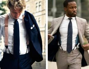 suspender with suit