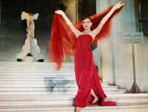 audrey hepburn red dress