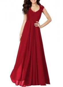 casual deep- v neck sleeveless vintage maxi dress
