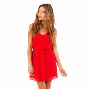 sleeveless double spaghetti strap v-neck