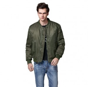 green bomber jacket men