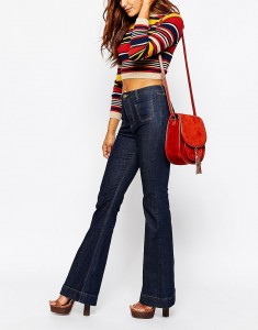 flare pants with high heels