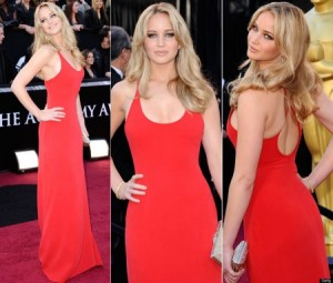 jennifer lawrence red dress