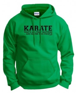 green karate sweatshirt