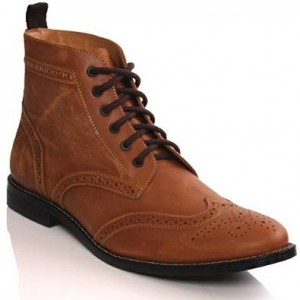 unze men's leather boots smart formal brogue