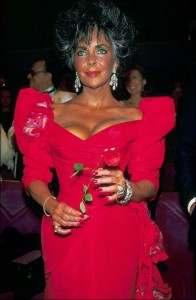 elizabeth taylor red dress