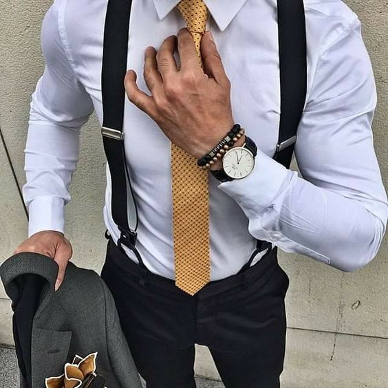 graduation outfit idea for guys gold tie