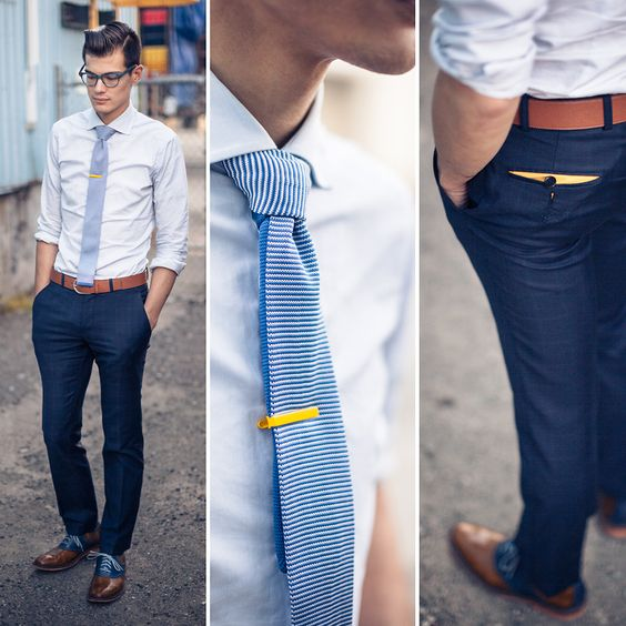 graduation outfit idea for guys tie pin