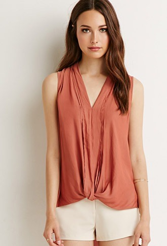 sleeveless chiffon top for the summer job interview