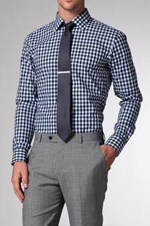 pattern with grey pants